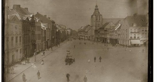 Boschstraot circa 1890 glaasplaat