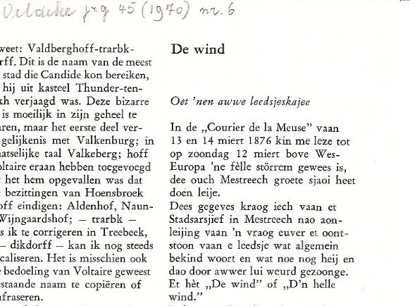 De Wind Veldeke 1970