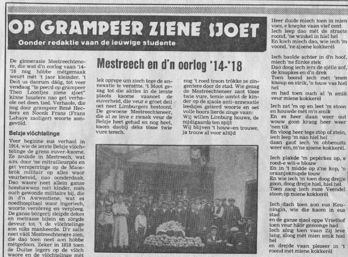 Maaspost Mestreech en d'n oorlog '14-'18 1